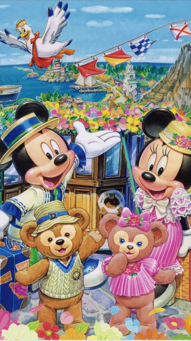 Minnie Mickey ディズニーの携帯電話の壁紙 可愛い キャラクター イラスト ミッキーマウスアート