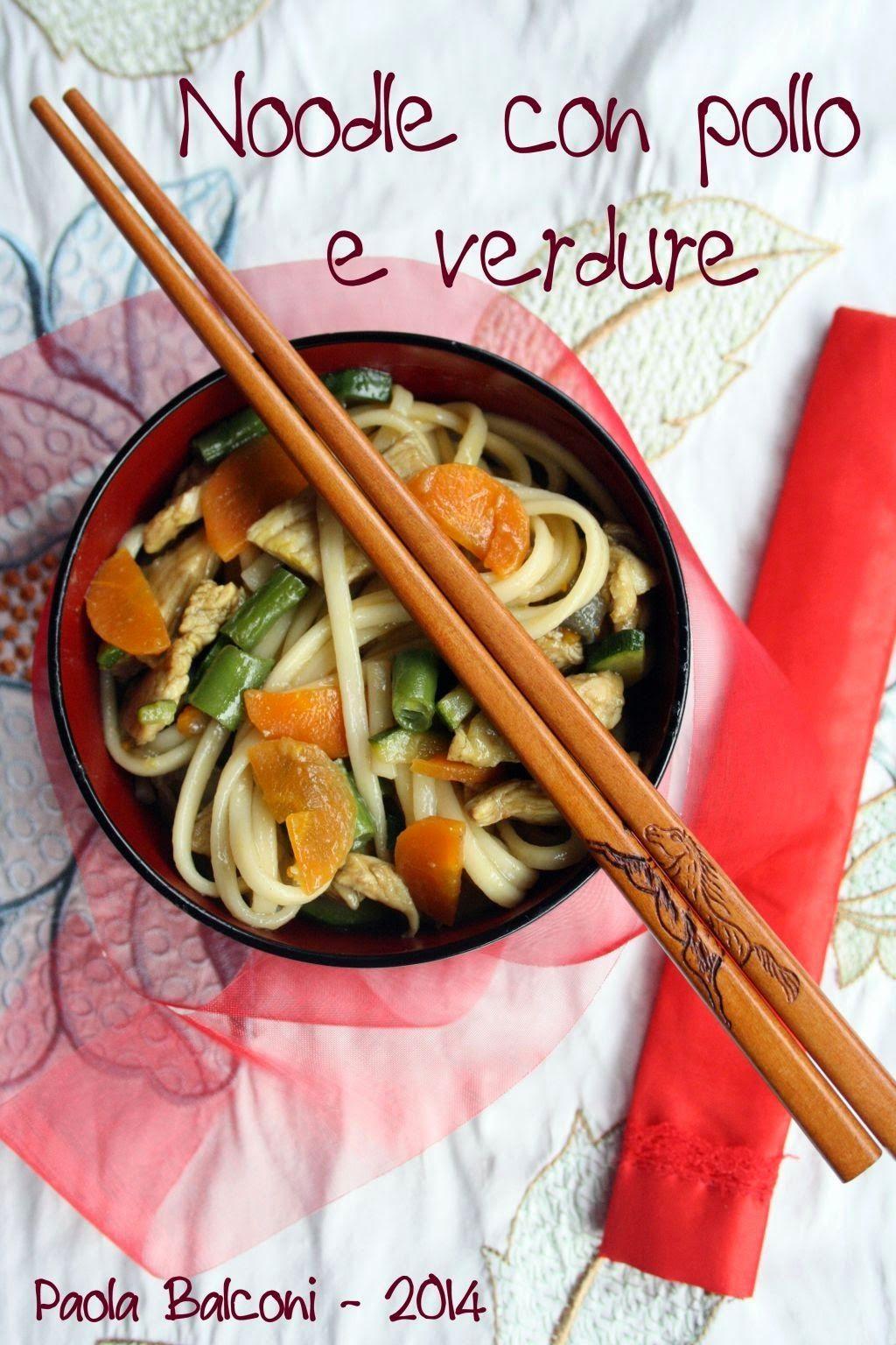 La cucina piccoLINA: Noodle con pollo e verdure | Cucina Orientale ...