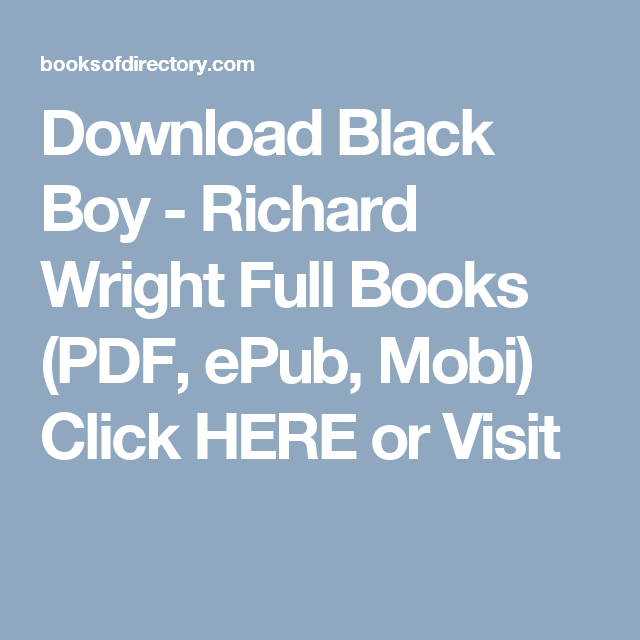 Black Boy Richard Wright Ebook