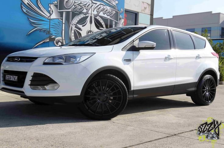 Ford Kuga With Stance Sc 7 Matte Black Wheels Ford Kuga Black