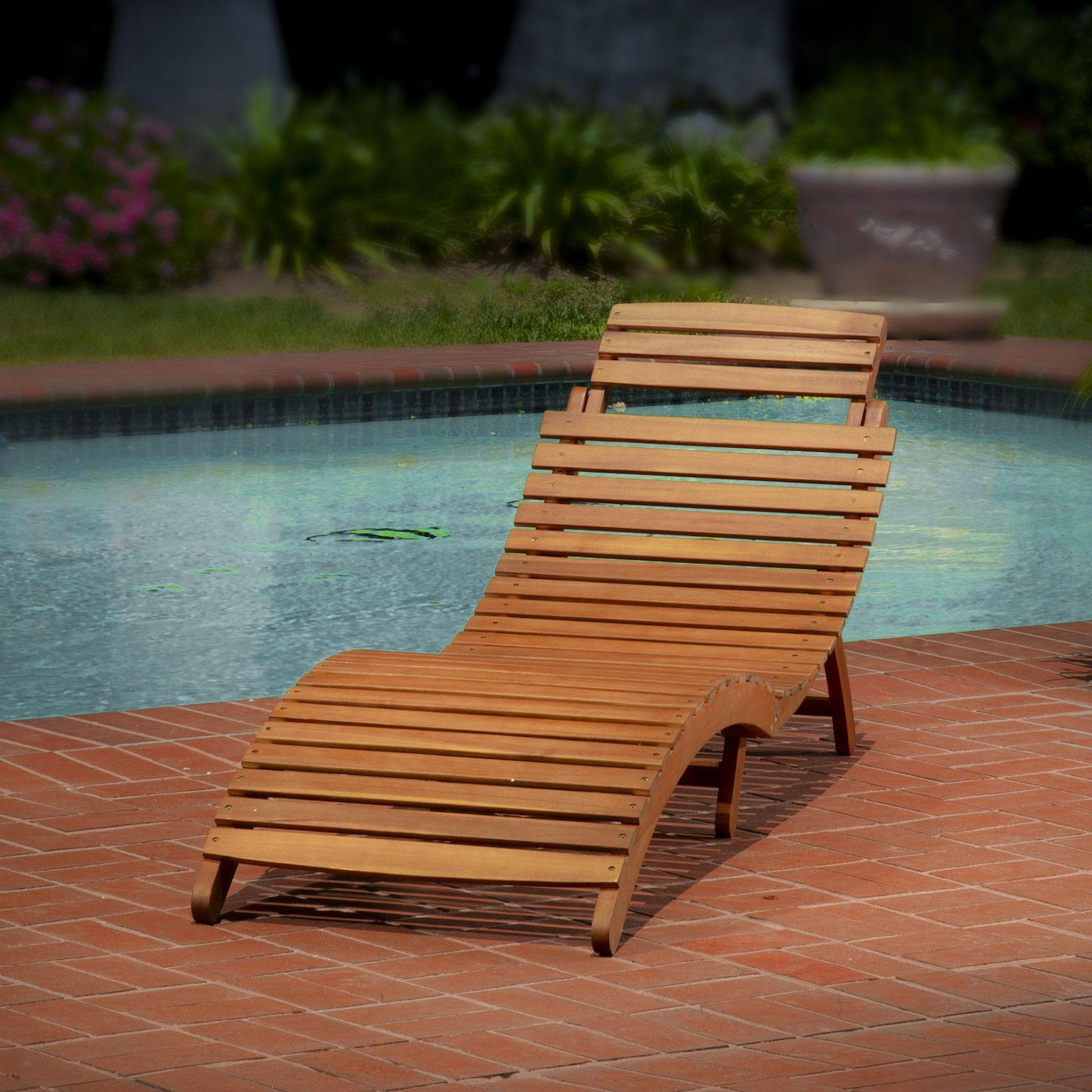 Lisbon Outdoor Wood Chaise Lounge Products Patio