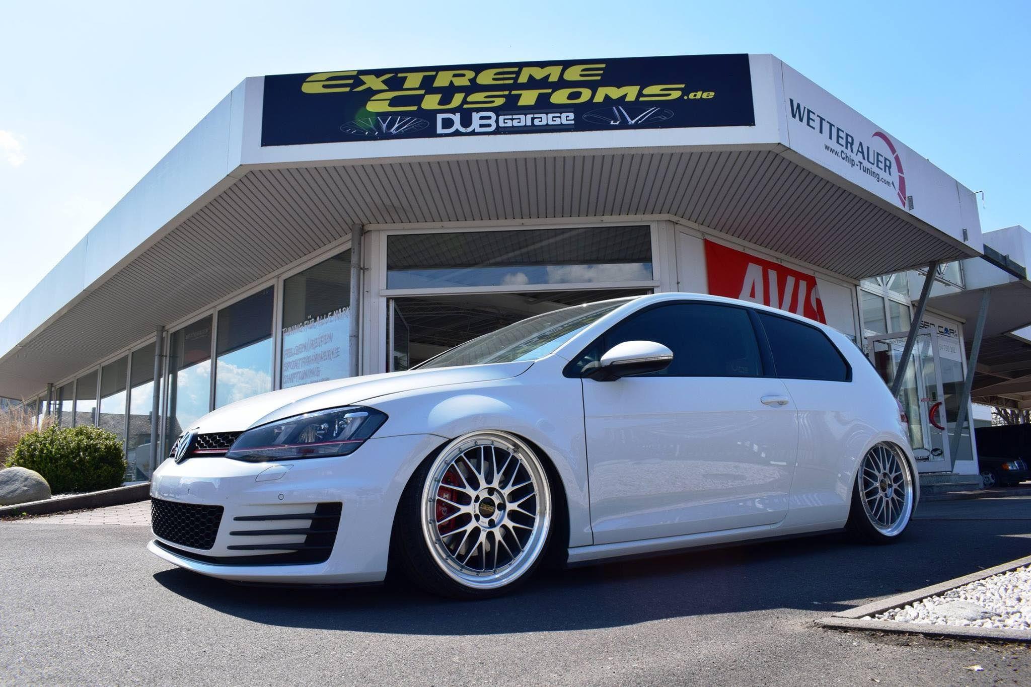 Volkswagen Golf Gti 7 White Bbs Lm Wheel Front Golf Gti Volkswagen Golf Gti Gti