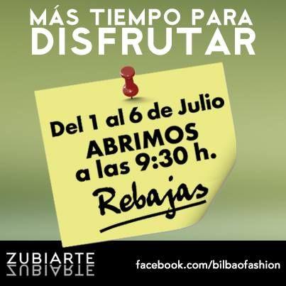 ¡Rebajas en Centro Comercial Zubiarte!