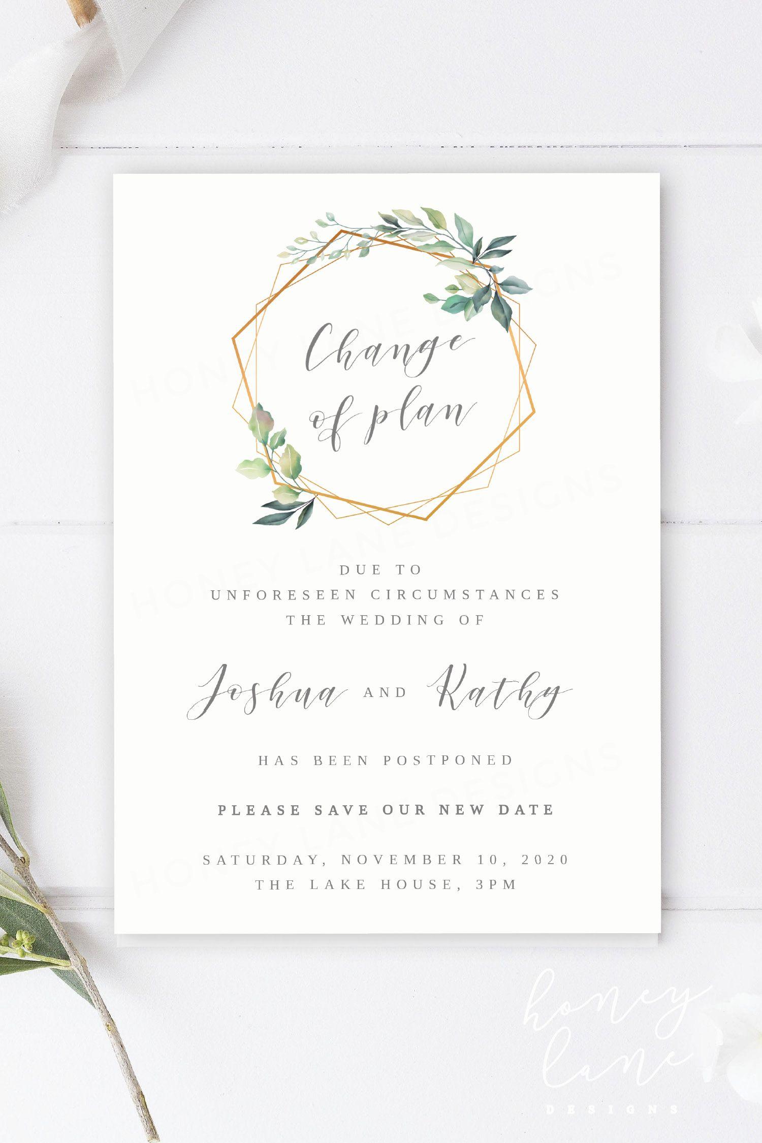 WE DESIGN & EDIT Printable Wedding Date Change