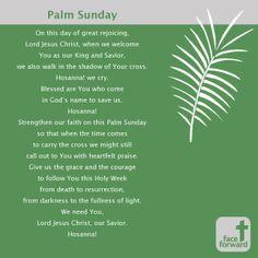 Palm sunday prayers palm sunday pinterest sunday for Prayer palm plant