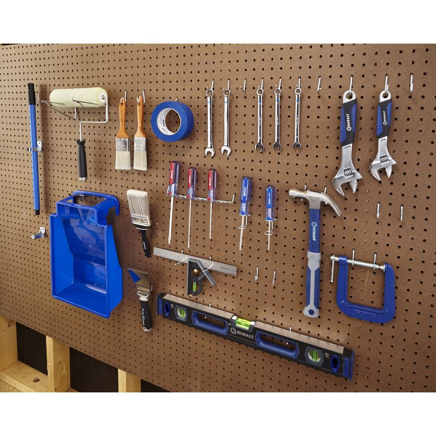 Shop Blue Hawk 47 Pack Steel Assorted Pegboard Hooks At Lowes Com Peg Board Creative Kids Snacks Glass Signage