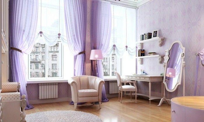 Die Farbe Lila modernes schlafzimmer sanfte farbnuancen Interieur