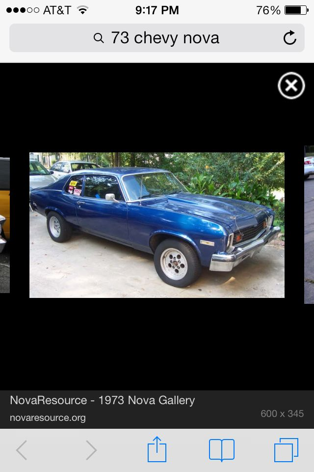 73 Nova My First Car At Age 15 Very Similar Looking Midnight