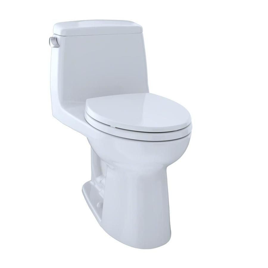 Toto Ultramax Cotton White Elongated Standard Height Toilet 12 In Rough In Size Lowes Com One Piece Toilets Toto Toilet Ada Toilet