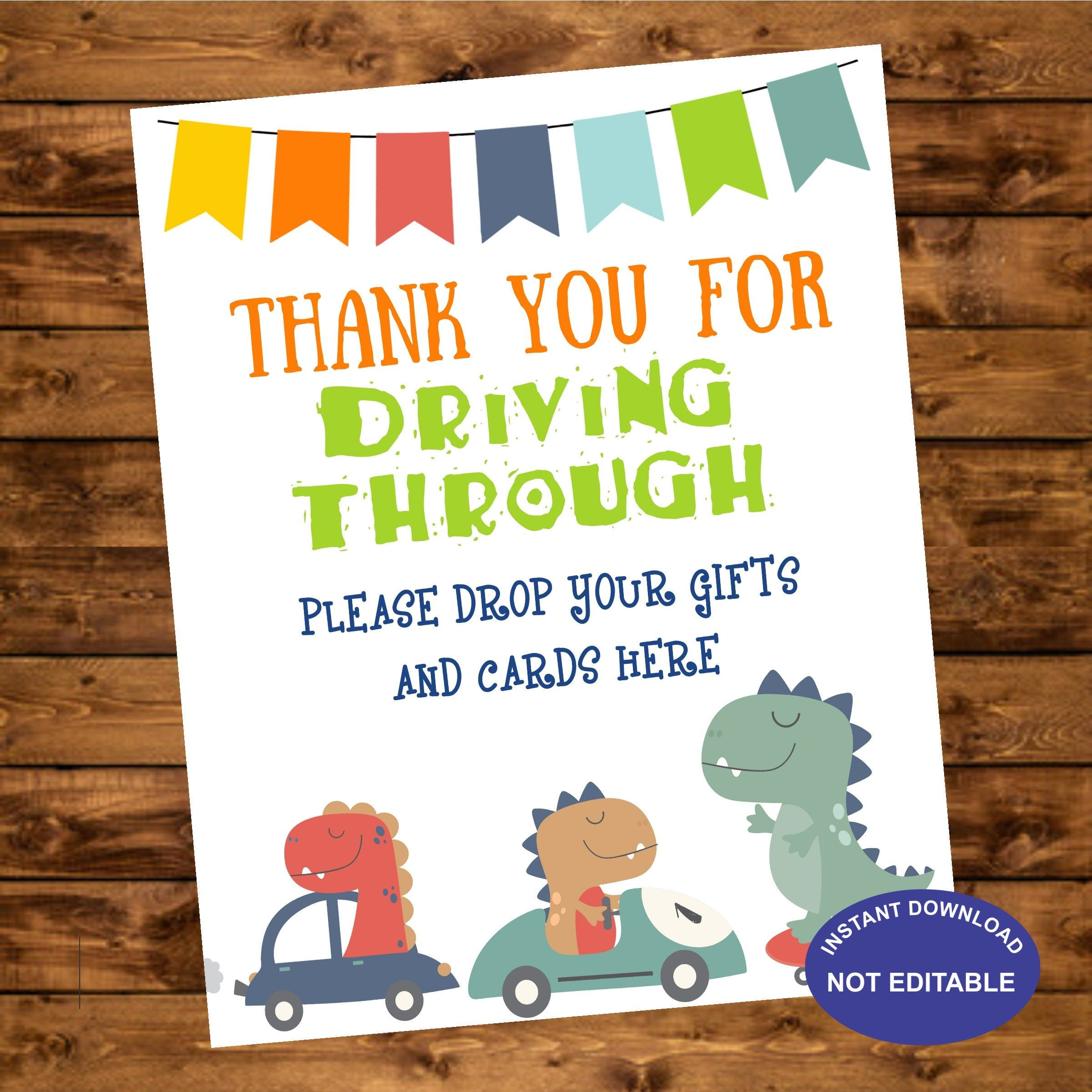 gifts and cards dinosaurs birthday drvivebirthday sign