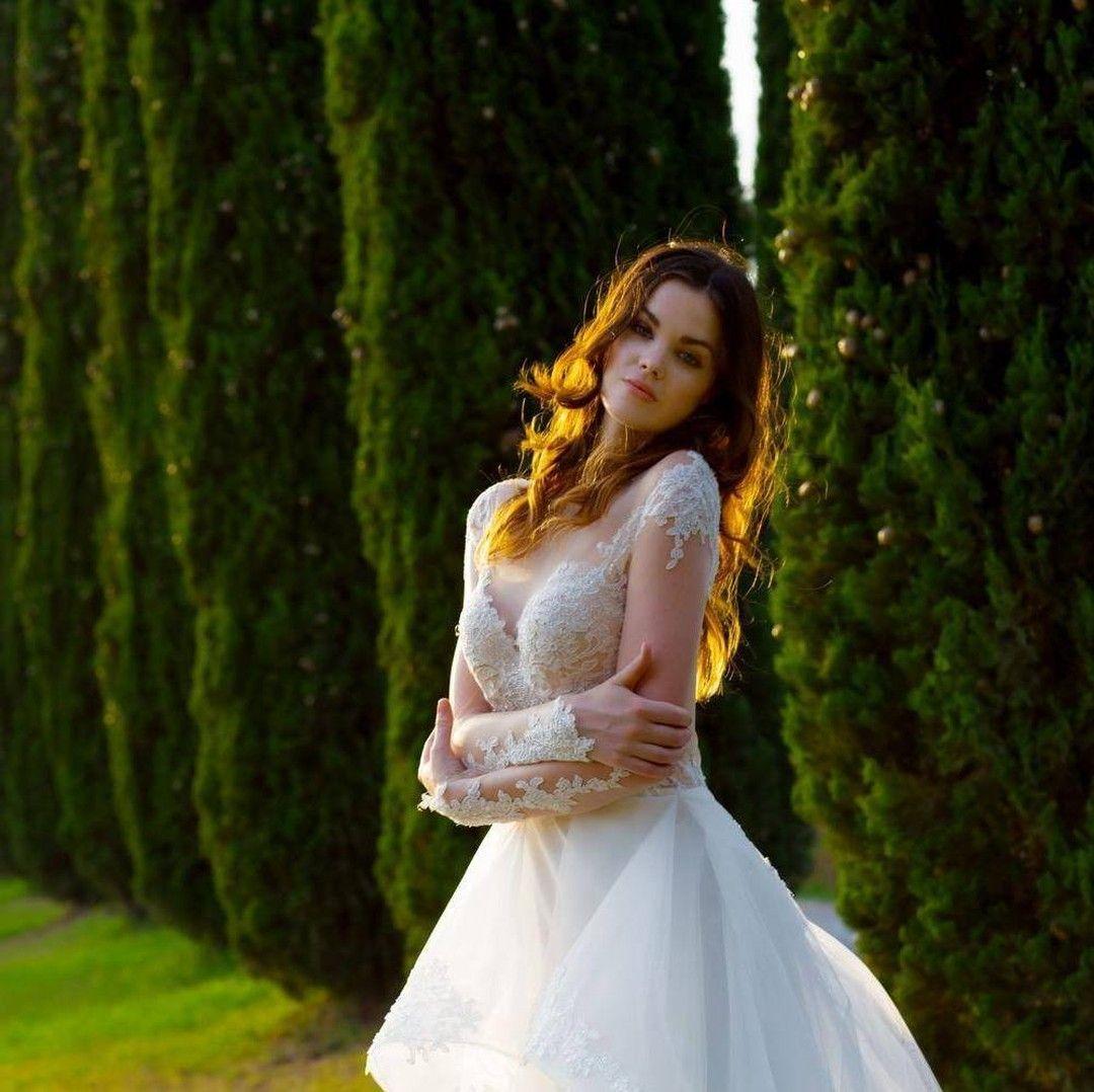 2018 Milla Nova Simple Satin Wedding Dresses 34 Long: Tra Le Colline Toscane I Meravigliosi Abiti Di Pinella