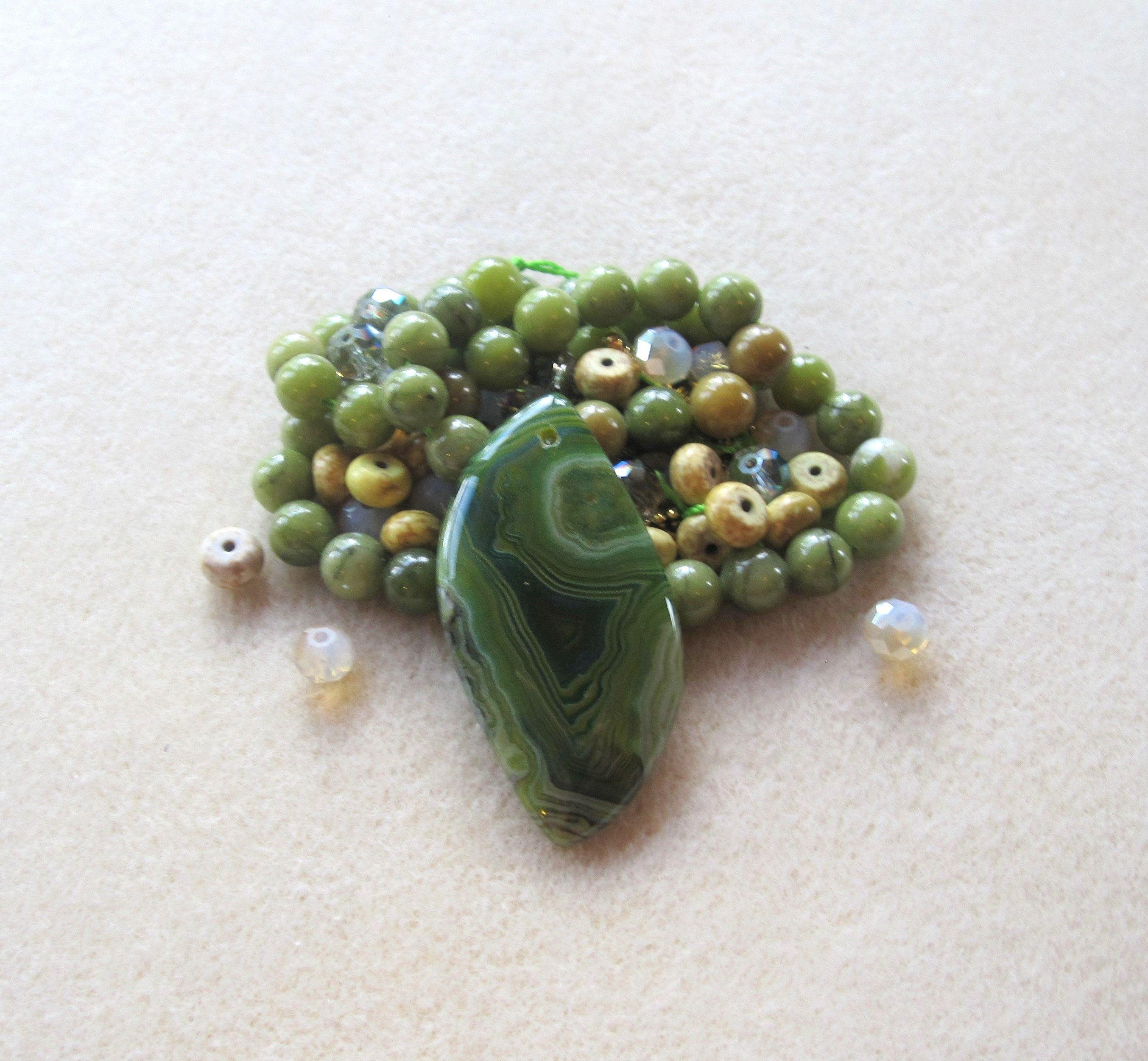 Pcs Gemstones Jewellery Making Crafts Serpentine Round Beads 8mm Dark Green 40