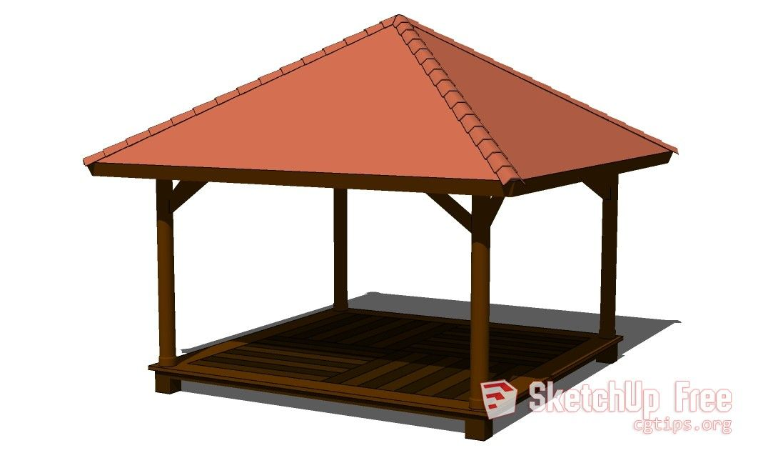 399 Gazebo set A 3D Sketchup Model Free Download | Scenes