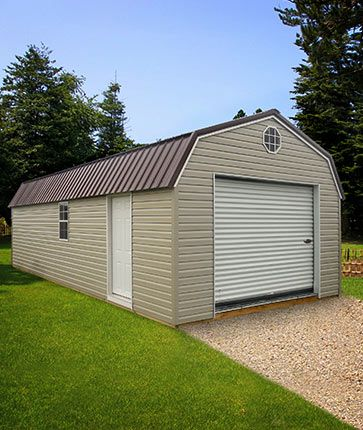 Lofted Garage Vinyl - Marten Portable Buildings | Metal ...