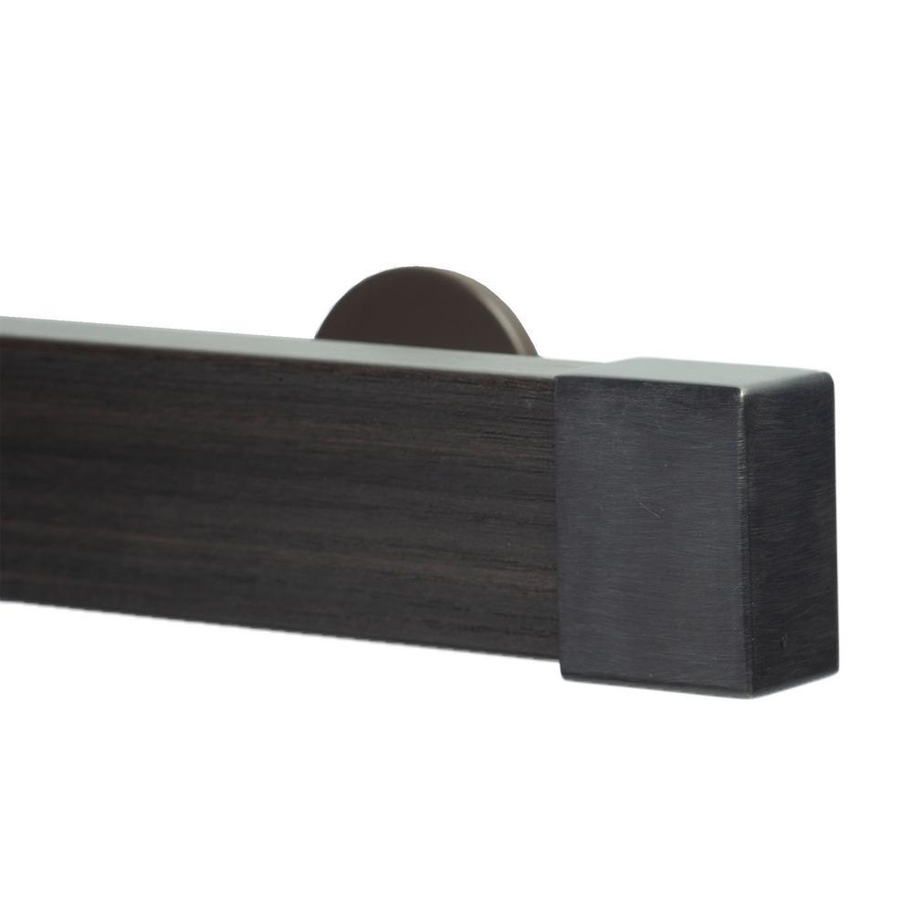 Art Decor Kontur Wood 96 In Non Adjustable Single Traverse Window