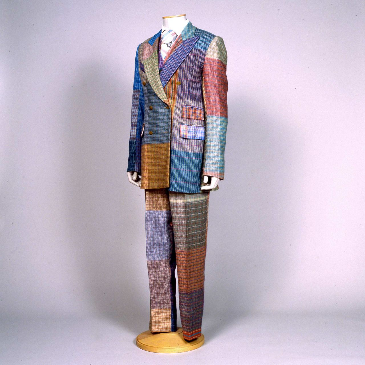 Men suit designed by Vivienne Westwood (1941-), London, 1985-90.  Collection Galleria del Costume di Palazzo Pitti.