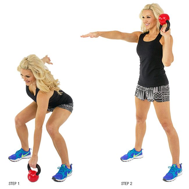 brooke griffin doing a kettlebell clean