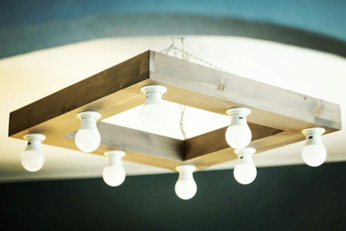 деревянная люстра в стиле лофт Polkamebel в 2019 г