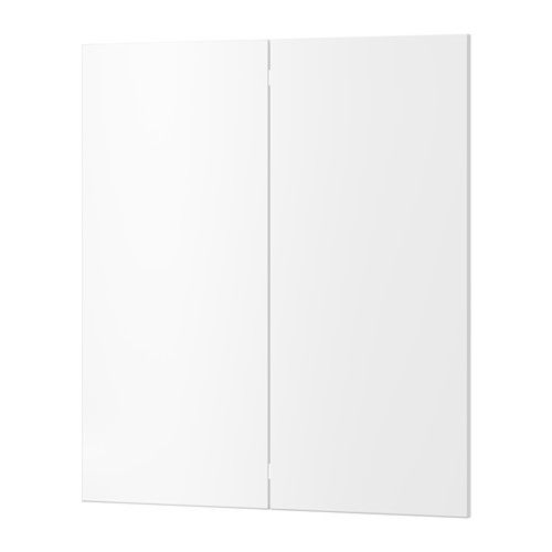 Modern White House With Integrated Angles And Corners: VEDDINGE Porte Arm Inf Angle 2p, Blanc