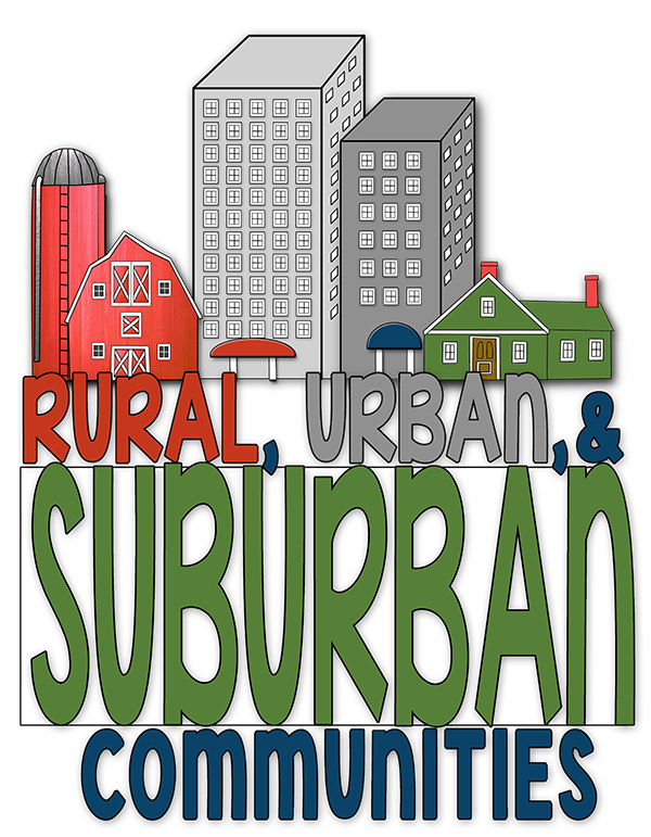 Rural, Urban, & Suburban | Different types, Student and The o'jays