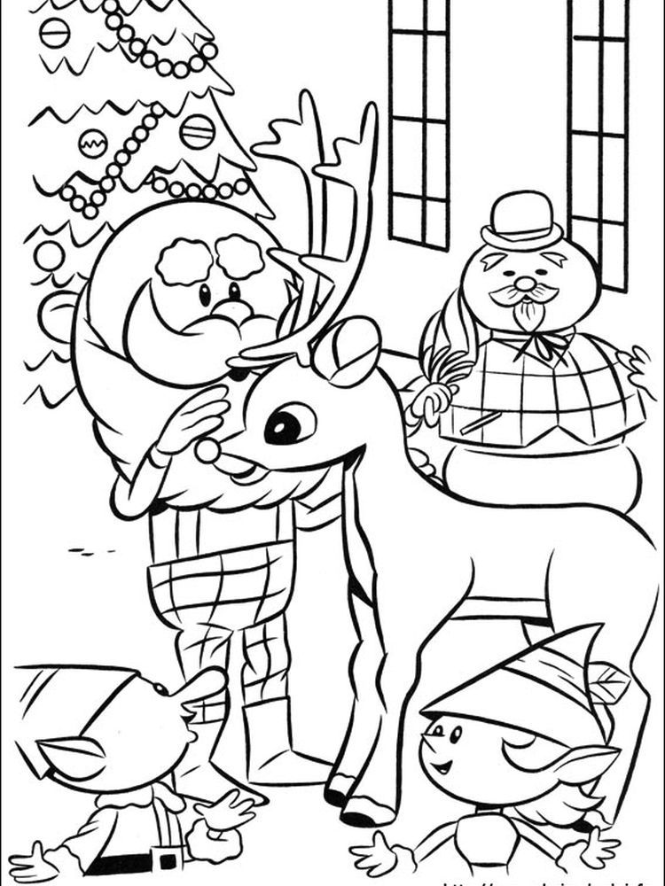 Red Nosed Reindeer Coloring Page Pdf Following This Is Our Collection Of Red Nosed Reindeer Color Rudolph Coloring Pages Coloring Pages Cartoon Coloring Pages