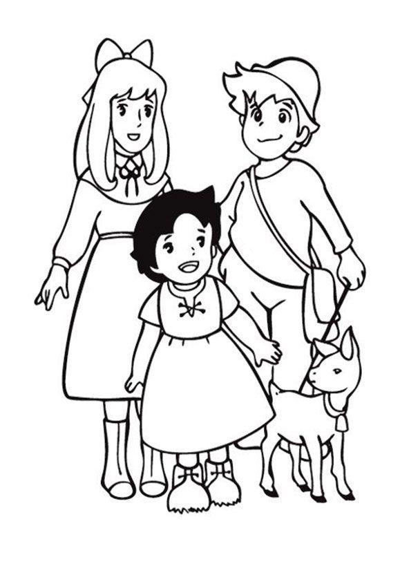 Heidi Ausmalbilder Kinder Ausmalbilder Vorlagen Malvorlagen Cartoon Zeichnungen Zeichnung Zeichentrickfiguren