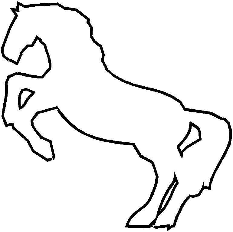 Coloriage cheval à colorier - Dessin à imprimer | Bricolage | Pinterest
