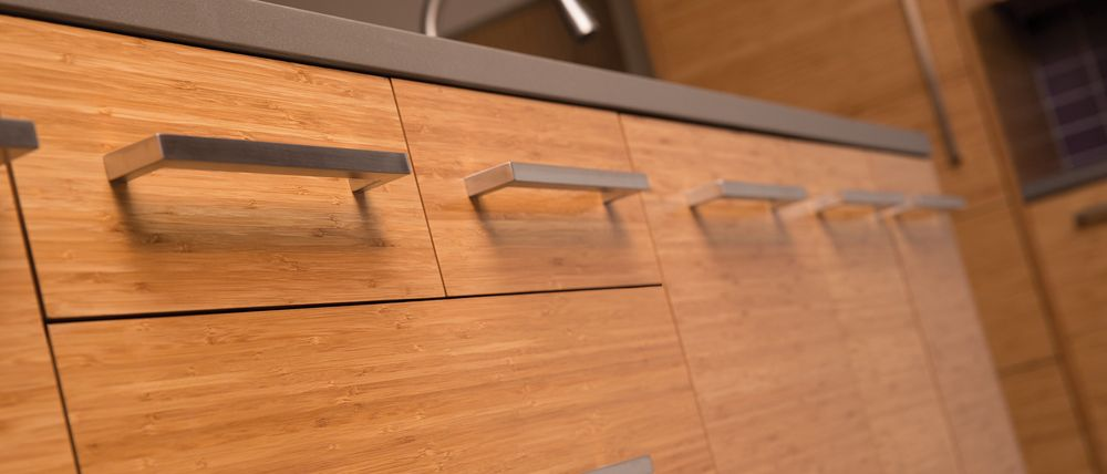 Close Up Of Bamboo Slab Cabinet A Slab Door Is A Solid Flat Door