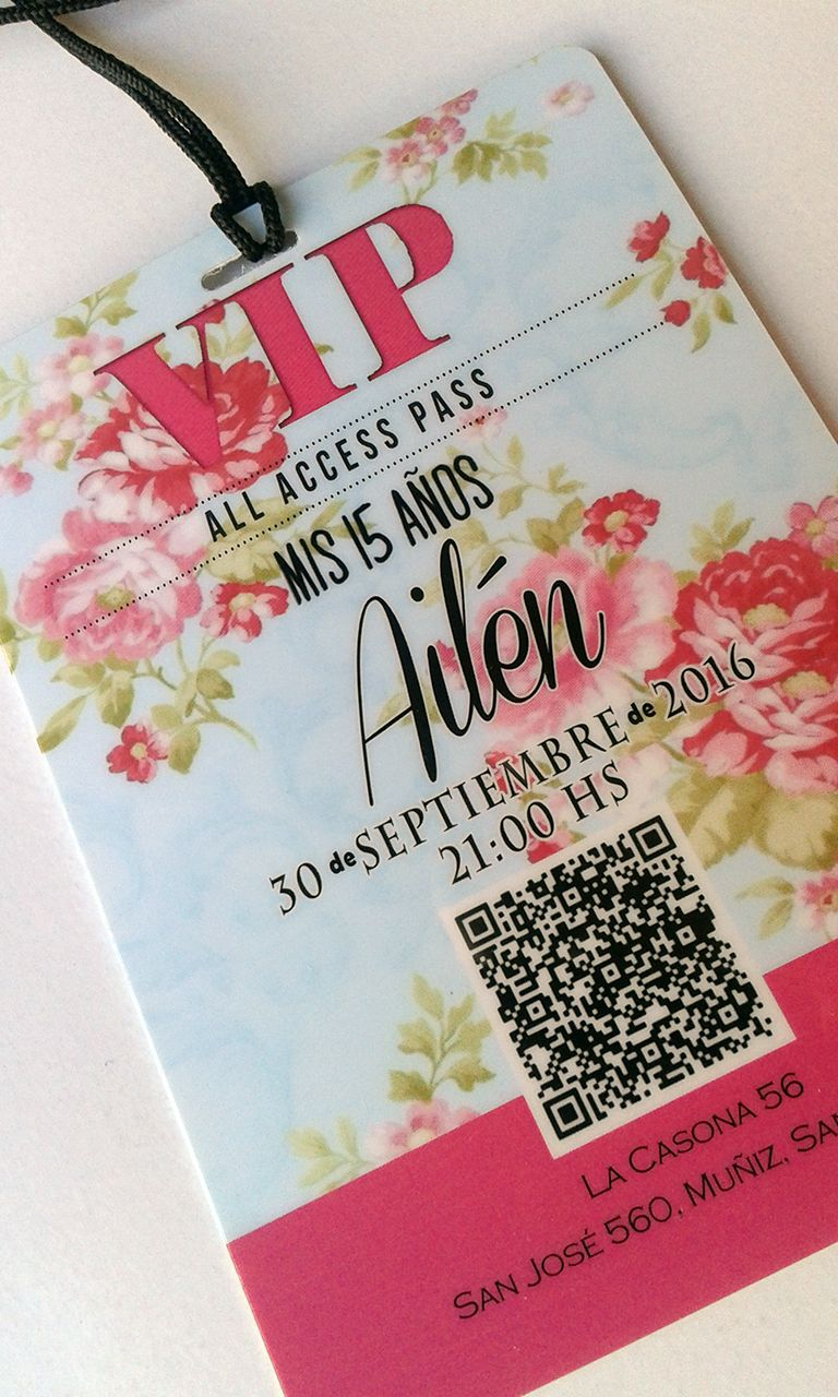 Invitaciones Vip Quince Años 15 Años Invitaciones Diseño