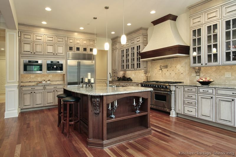 Kitchen Of The Day: Large, Luxury Design With Antique White
