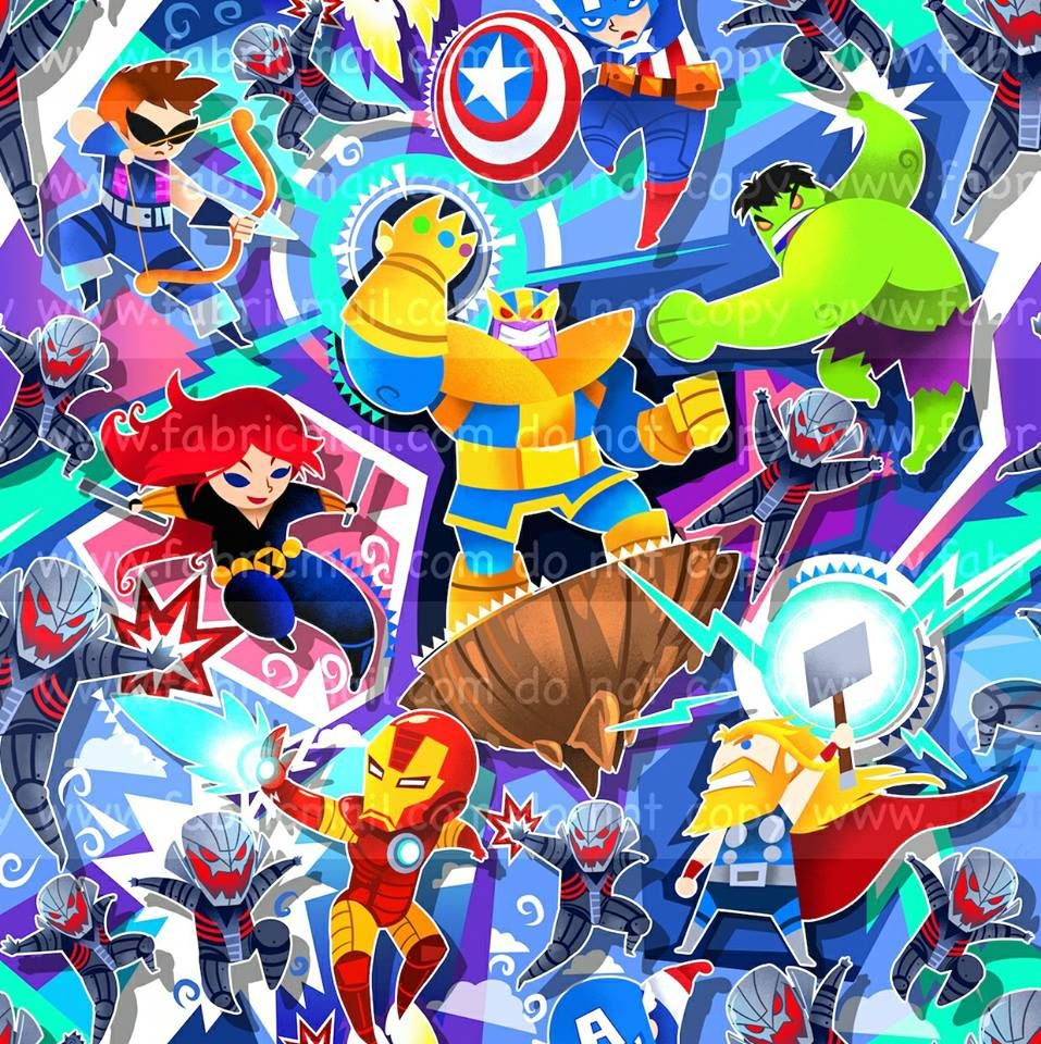 Avengers Cotton Lycra 95/5 Avengers, Anime, Character