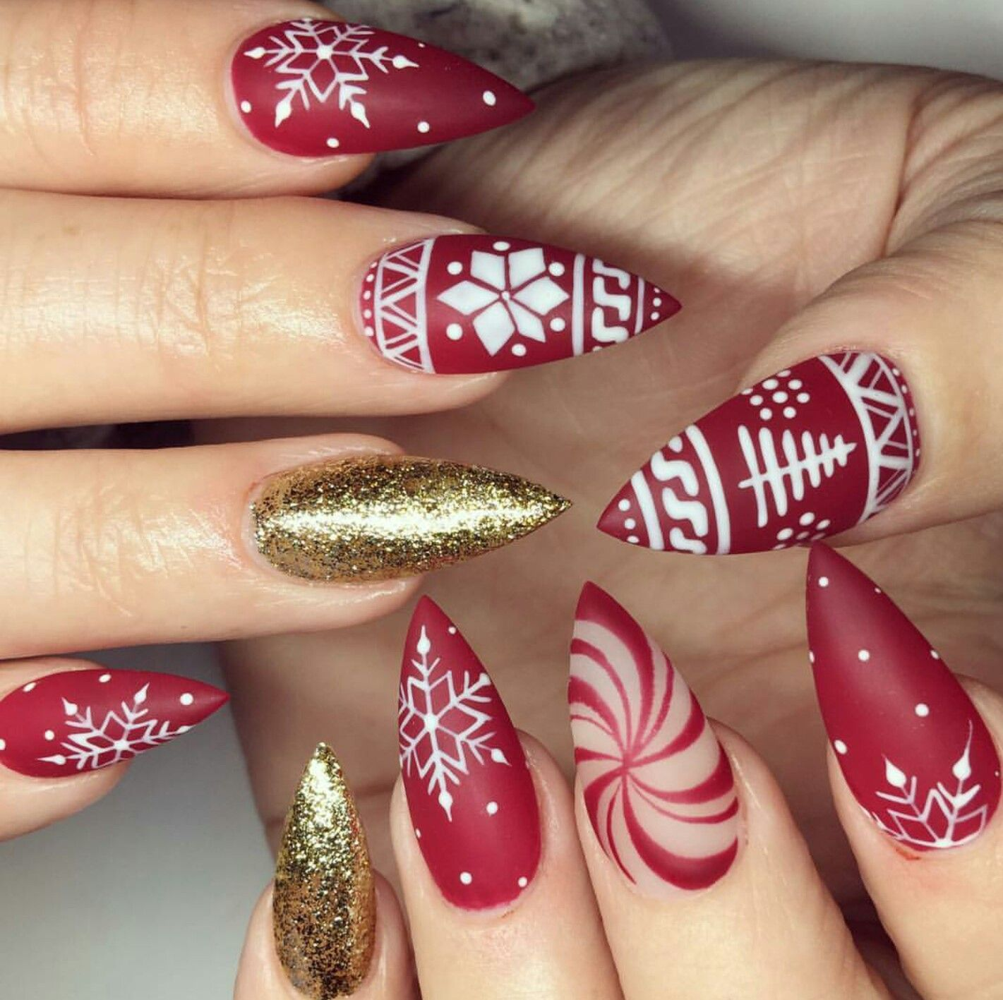 Pin by Sheila Fann on Nails | Pinterest | Manicure, Xmas nails and ...