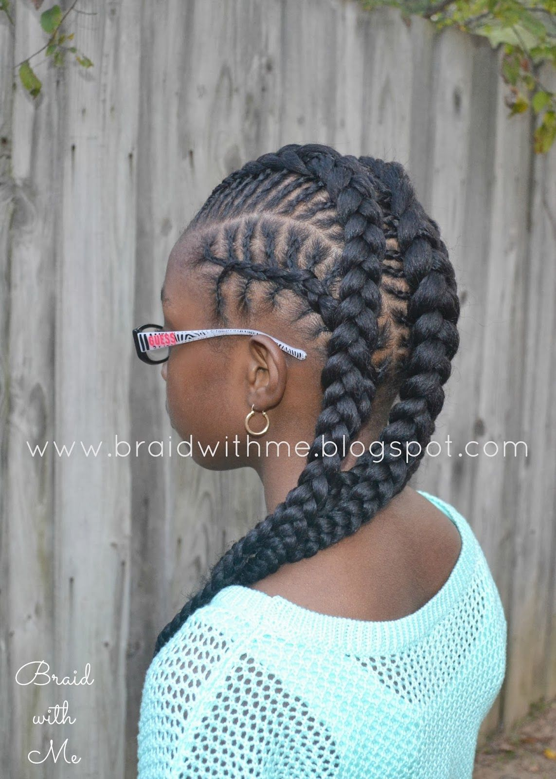 Absolutely gorgeous! Fishbone cornrows hairstyle. This mom has ...