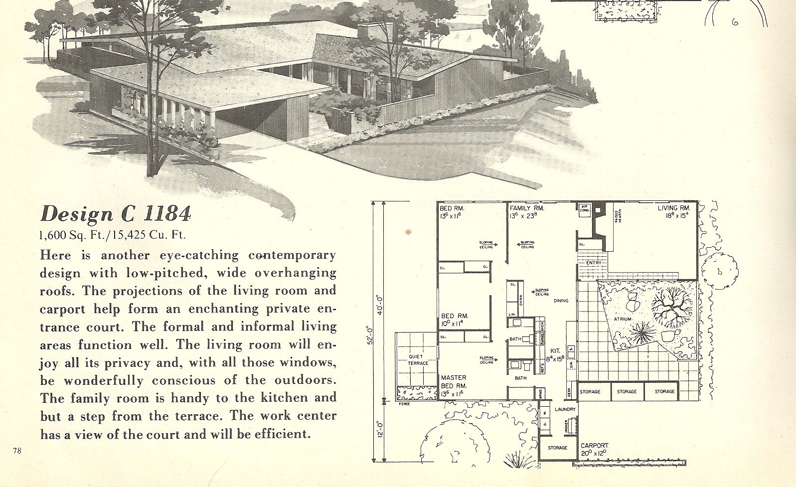 mid century house plans | ... house-plans-1960s-spanish ...