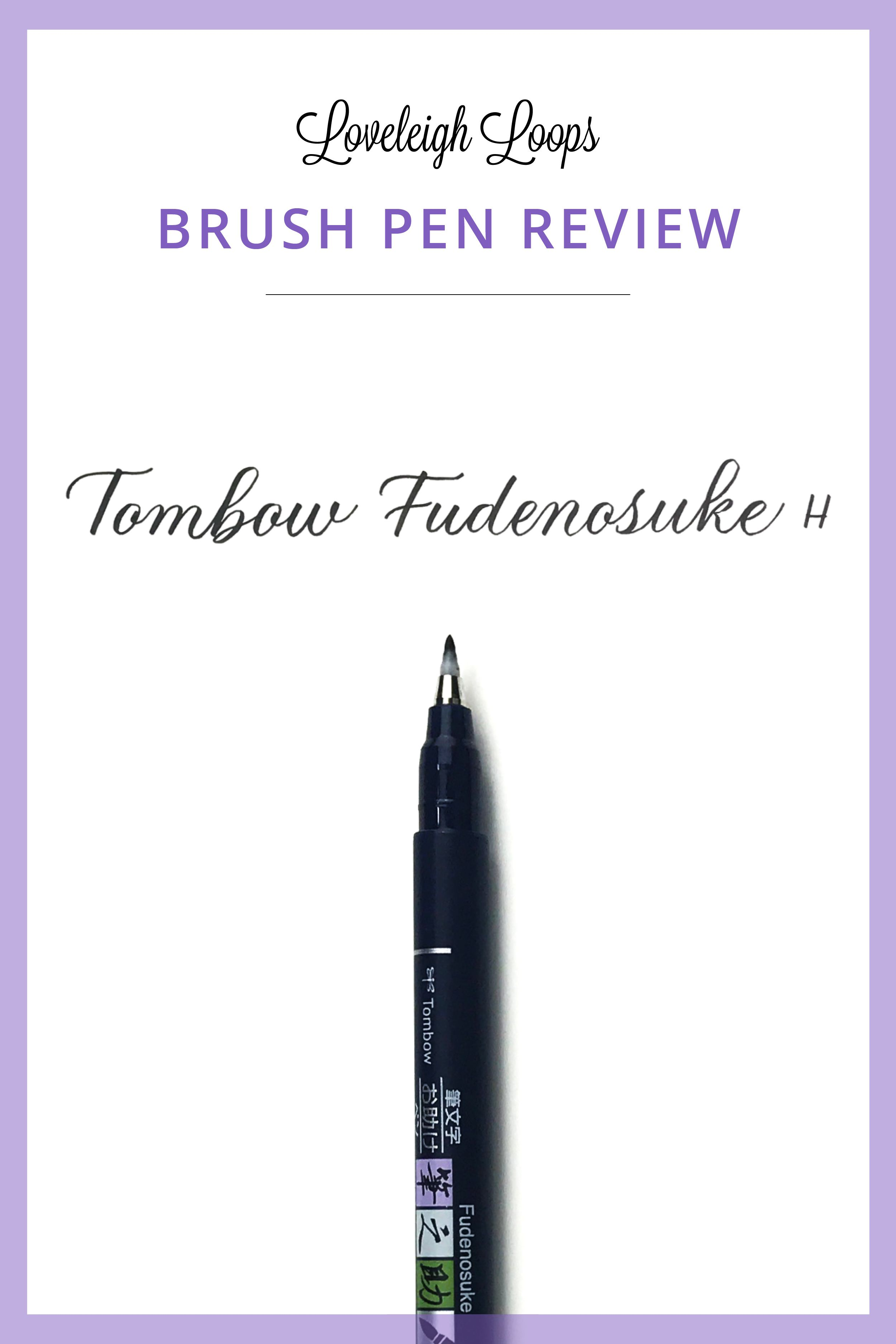 Tombow Fudenosuke Brush Pen Demonstration And Review