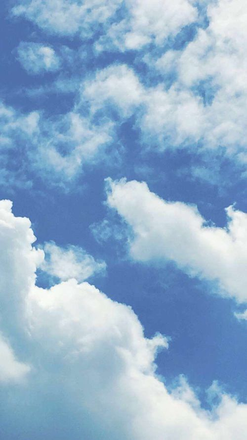 Blue Sky And Clouds Image Blue Sky Wallpaper Iphone