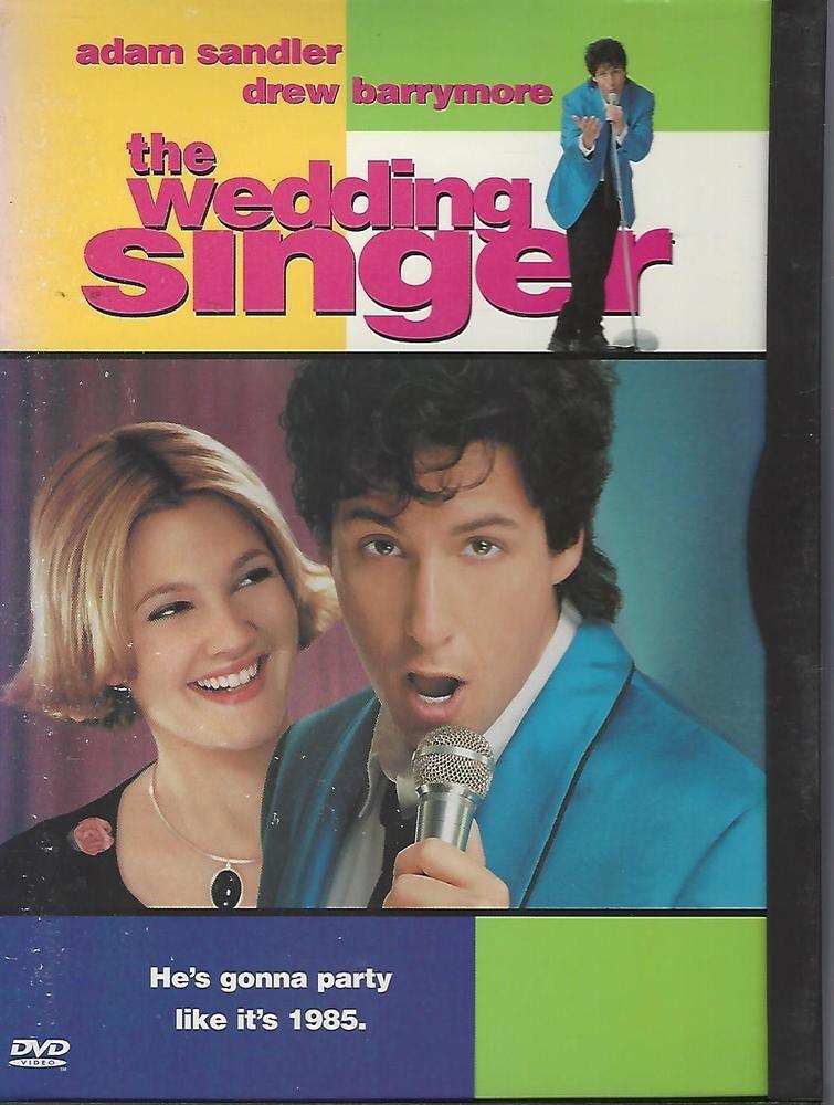 The Wedding Singer DVD 1998 Adam Sandler Drew Barrymore