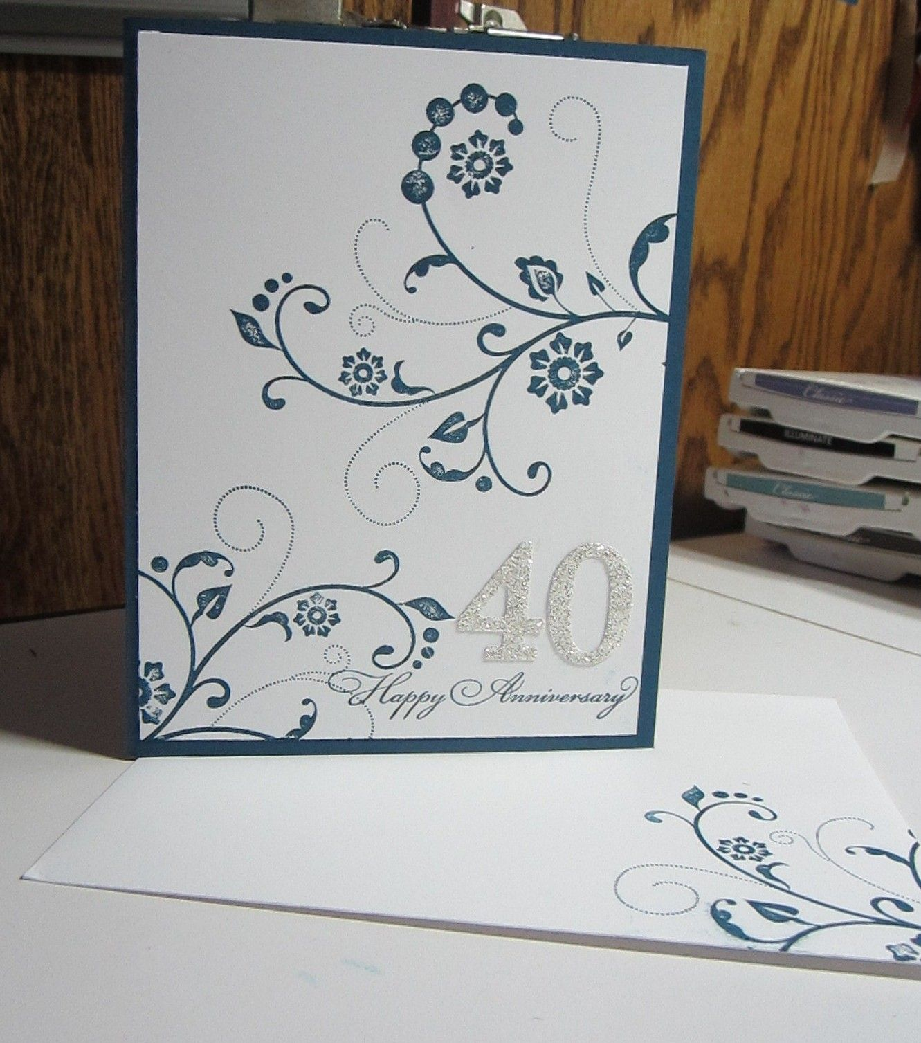 Happy 40th Anniversary With Images Anniversary Cards For