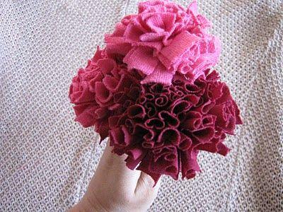 Little Treasures Fabric Carnation Tutorial Fabric Flowers Diy Fabric Flower Tutorial Fabric Flowers
