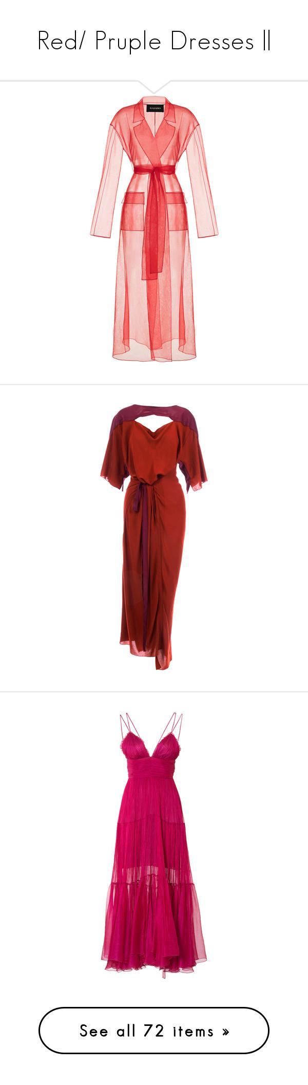 Red pruple dresses