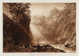 LIBER STUDIORUM. PART 4 ( 29 / 03 / 1809 ). PLATE 18. DRAWING OF THE CLYDE. 3rd pubblished state. Etcher : J.M.W. Turner. Engraver : Charles Turner.