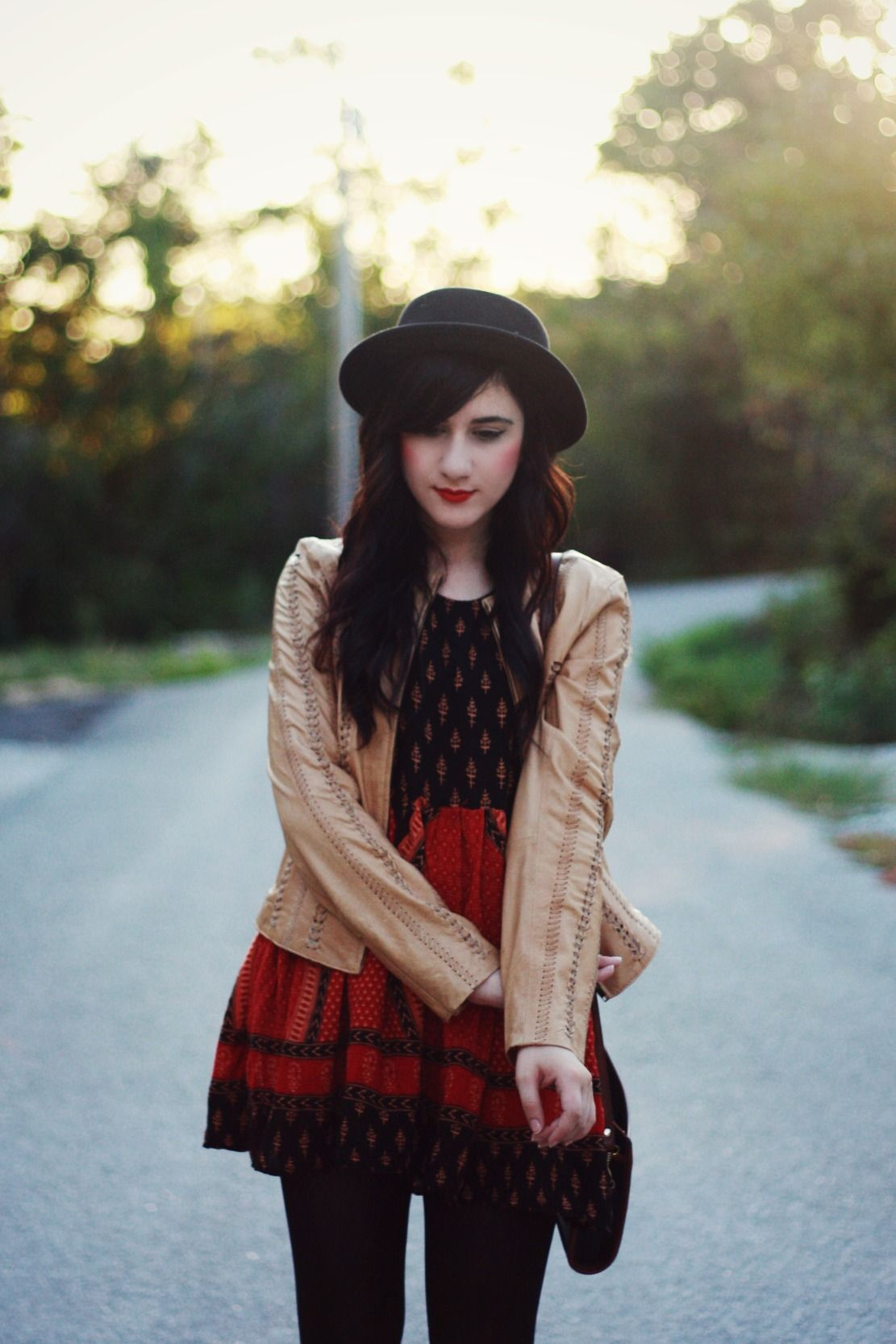Fall, Leather, BB Dakota- @Flashes of Style's @Bonnie Barton looking sweet and stylish as always!