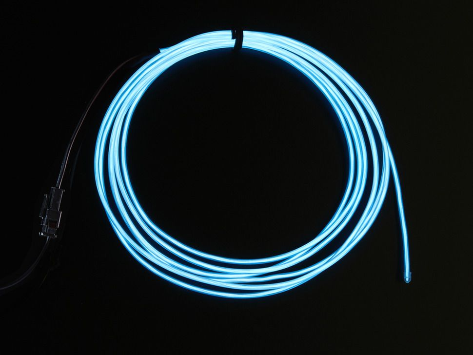 male plug Cable connector EL Lamp Foil Wire Neon Light