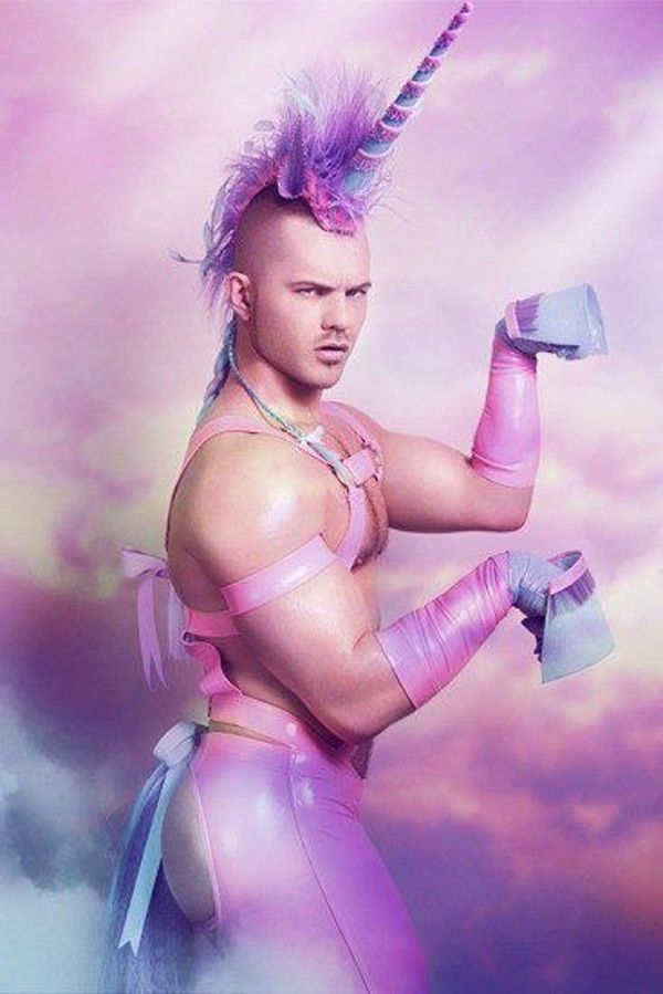 How do you make an otherwise hot man completely unattractive?  Dress him up as a unicorn.