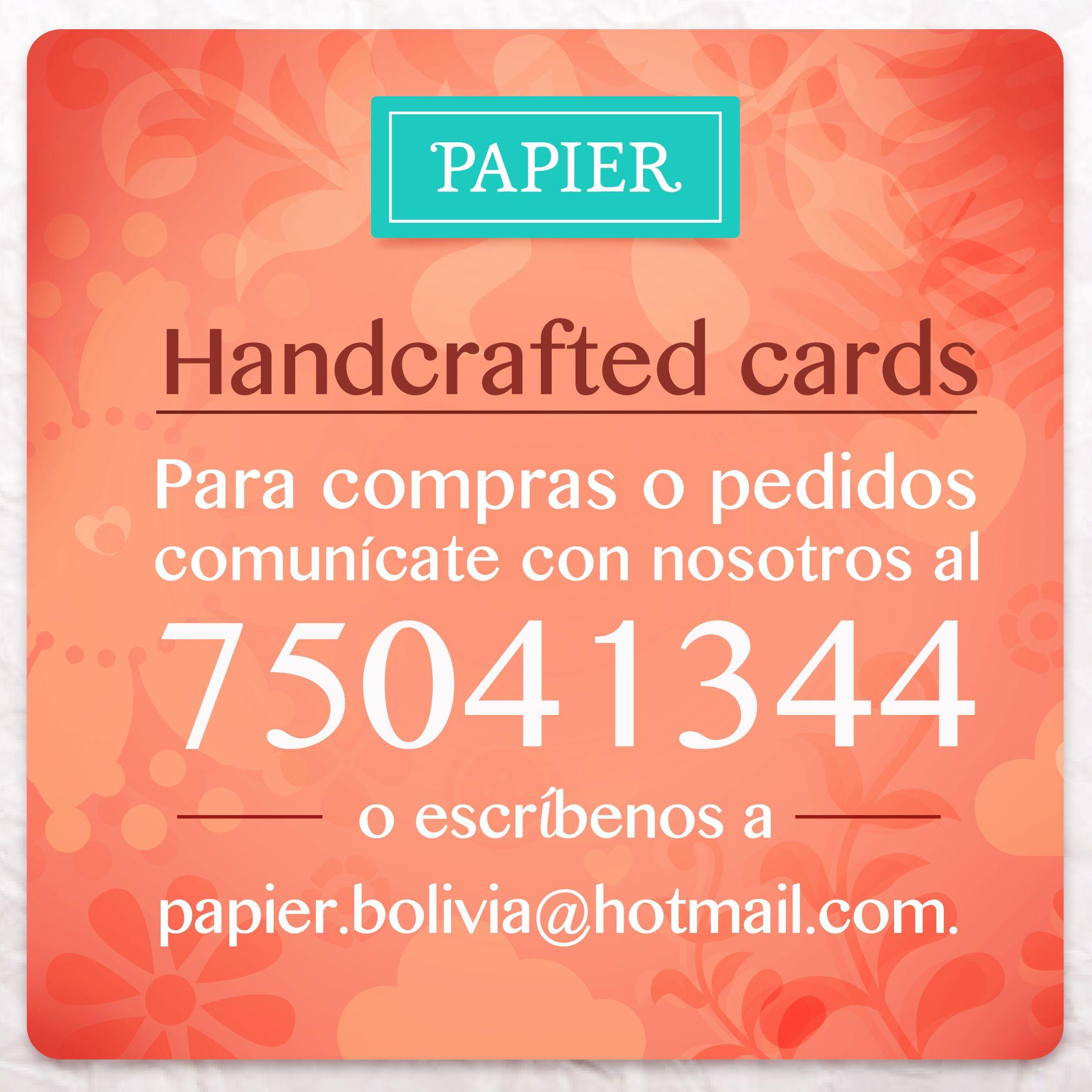 Papier te ofrece tarjetas con diseño exclusivo y vanguardista! Nos enfocamos en los detalles haciendo especial cada ocasión. Encuéntranos también en Instagram como Papier_Oficial