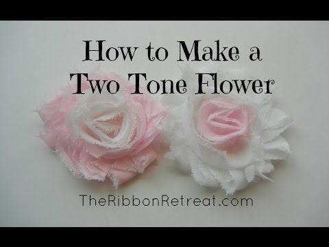 ▶ How to Make a Two Tone Shabby Chiffon Flower - TheRibbonRetreat.com - YouTube