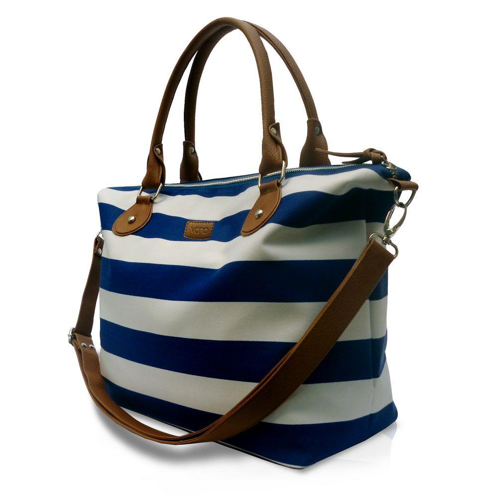 VONA Nautical Carriole, Blue/White  VONA adalah label tas wanita yang berbasis di Bali & 100% INDONESIA.