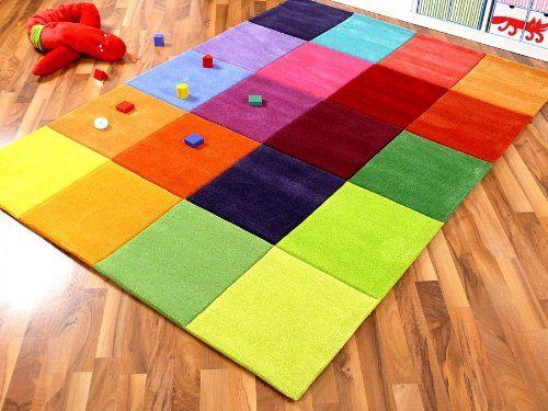 Teppich bunt retro  Lifestyle Kinderteppich Happy Bunt in 5 Größen !!! Sofort ...