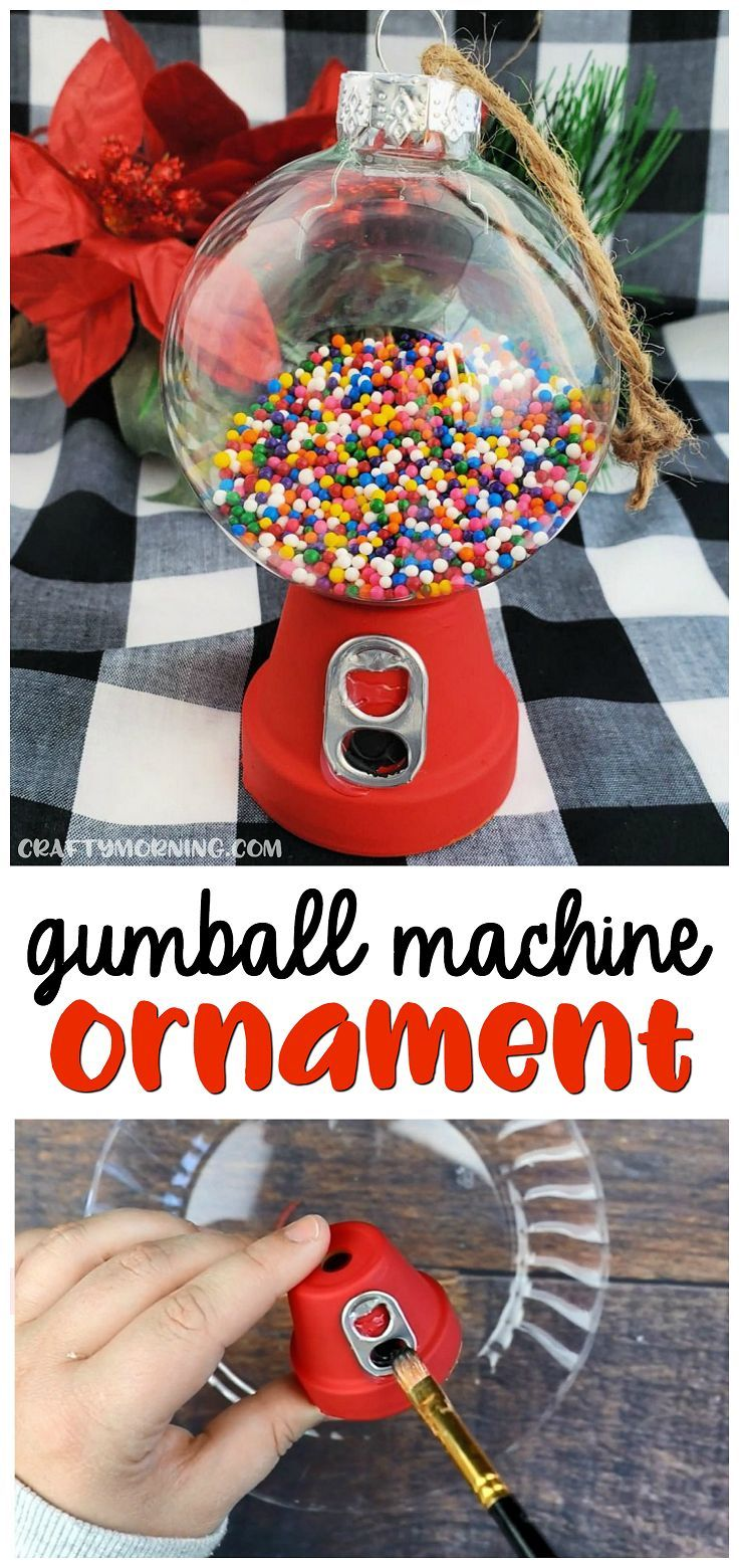 DIY Gumball Machine Ornament - Crafty Morning