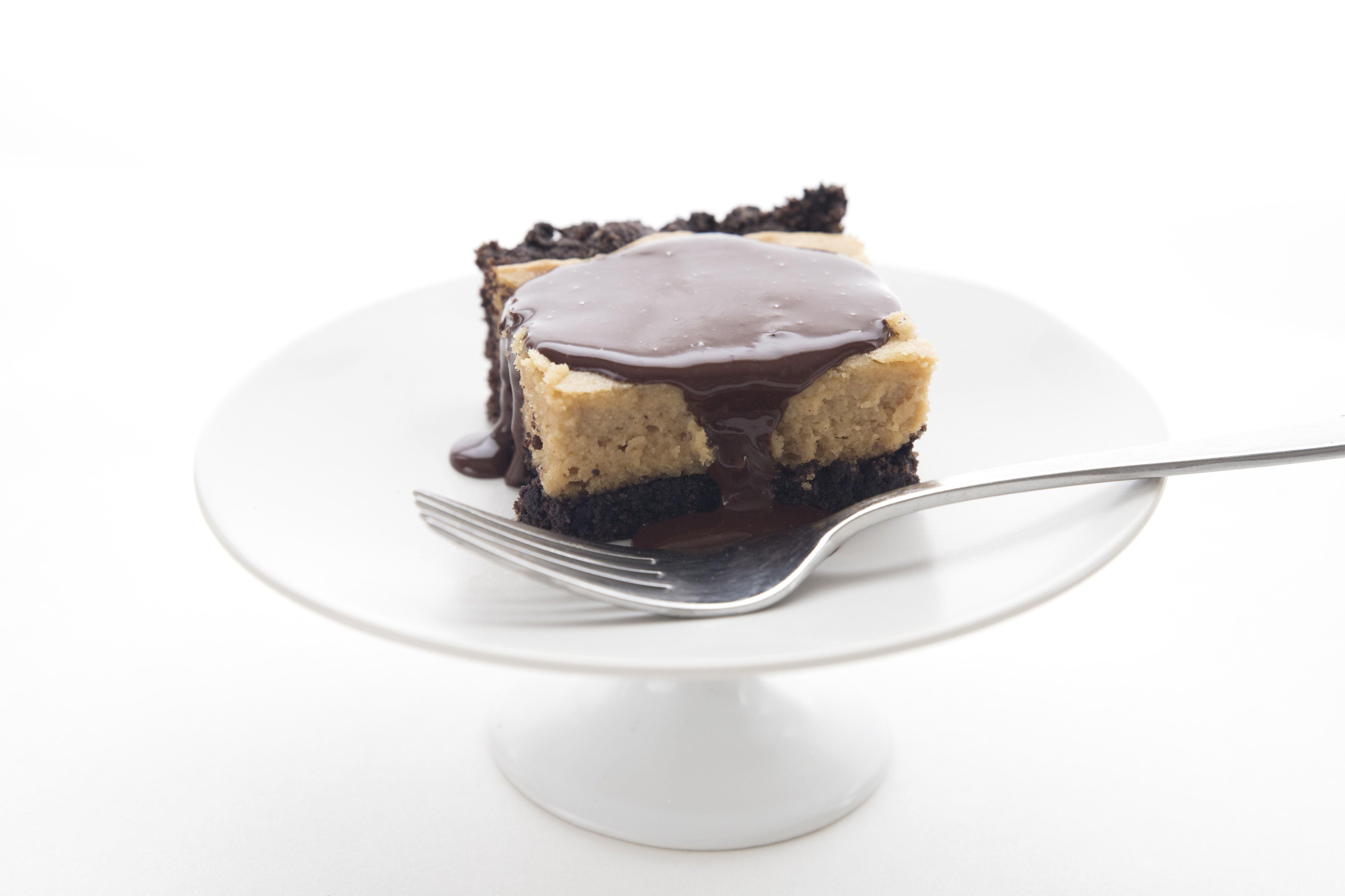 Chocolate pb peanut butter gooey butter cake using swerve